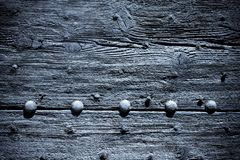 old blue wooden door background Royalty Free Stock Photography
