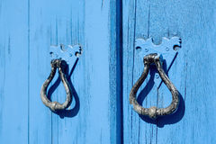 Old blue wooden door Royalty Free Stock Images