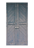 Old blue wooden doors Royalty Free Stock Photo
