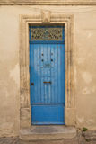 Old blue wooden door Stock Photo