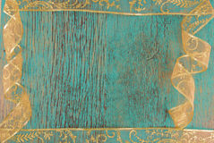 Old blue wooden surface royalty free stock photography