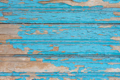 Old blue wooden table with grunge, abstract texture background. Stock Photo