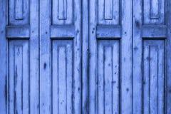 Old Blue Wooden Window Shutters Stock Image