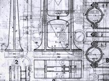 Old Blueprints Stock Photography