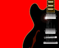 Old Blues Guitar Royalty Free Stock Photography