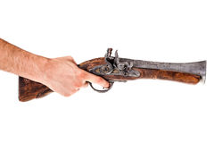 Old Blunderbuss. An old blunderbuss isolated over a white background Royalty Free Stock Image