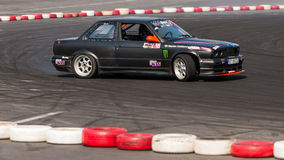 Old BMW drift car at championship Royalty Free Stock Images
