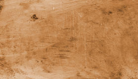 Old board background furrowed with knife Royalty Free Stock Images