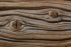 Old board with a knot Stock Images