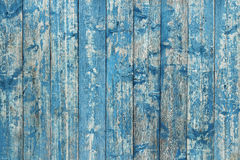 Old board painted with blue paint Royalty Free Stock Image