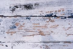 Old painted blue wood board, copy paste space stock images