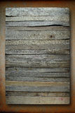 Old board on a piece of iron rust Royalty Free Stock Image