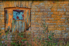 Old boarded window Royalty Free Stock Image