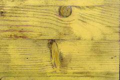The old boards covered with a yellow varnish Royalty Free Stock Photo