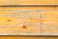 The old boards covered with a yellow varnish Stock Image