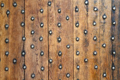 Old boards and metal rivets Stock Photography