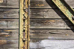 Old boards and metal texture Royalty Free Stock Images
