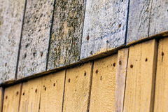 Old boards nailed Royalty Free Stock Photos
