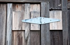 Old Boards, New Hinge Stock Images