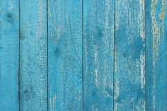 Old boards painted in blue color  background Stock Photography