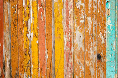 Old boards painted in bright colors. Wooden wall from old boards painted in bright colors Stock Image