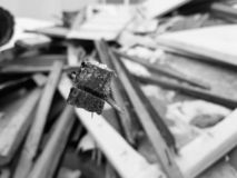 Old boards, repair and construction waste stock images
