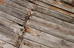 Old boards  texture. Old, destroyed boards with paint leavings Stock Images