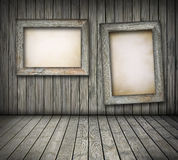Old boards on wooden wall Royalty Free Stock Image