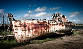 Old Boat. An Old Abandoned Boat at Skippool Creek Royalty Free Stock Image