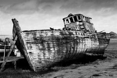 Old Boat. An Old Abandoned Boat at Skipool Creek Stock Images
