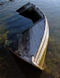 Old boat 2. Old sunken boat Royalty Free Stock Images