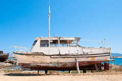 Old boat. An old worn boat ready for rehabilitation Stock Images