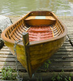 Old boat. An old boat on land stock photography