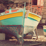 Old boat, abstract vintage background Royalty Free Stock Image
