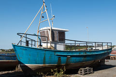 Old boat  in Ardglass harbour Royalty Free Stock Images