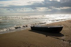 Old Boat. On the beach Stock Image