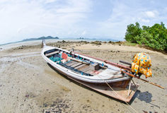 Old boat on the beach. Royalty Free Stock Photography