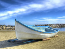 Old boat on beach Royalty Free Stock Image