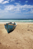 Old boat on beach Royalty Free Stock Photo