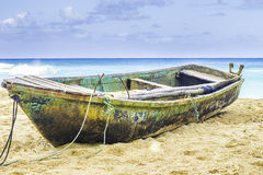 Old Boat on a Beach Royalty Free Stock Photography