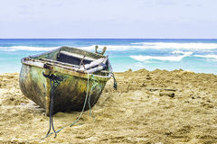 Old Boat on a Beach Royalty Free Stock Images