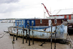 Old boat at burnham on crouch. Old rotten boat at burnham on crouch Royalty Free Stock Photo