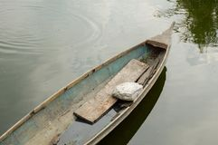 Old boat on canal. In country Thailand Royalty Free Stock Photography