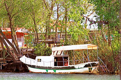 Old boat on Dalyan river, Turkey Stock Photography