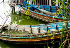 Boat decaying and drowned in lake. Old Boat decaying and drowned in lake Stock Photo