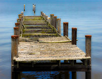 Old Boat Dock. With a Soft Background stock photo