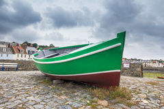 Old boat in dry dock Royalty Free Stock Images