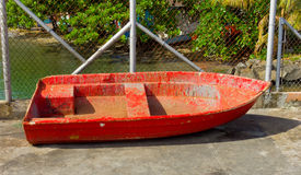 An old boat on dry land in the tropics Royalty Free Stock Photos