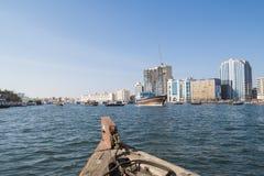 Old boat Dubai Creek Stock Images