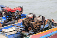 Old boat engine Stock Photo